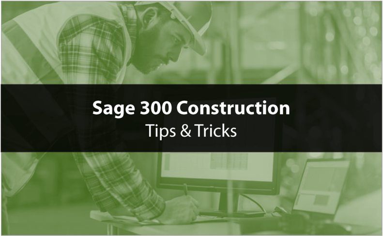 Sage 300 CRE tips and tricks
